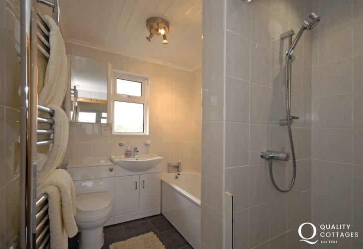 Ground floor bathroom with separate walk in shower
