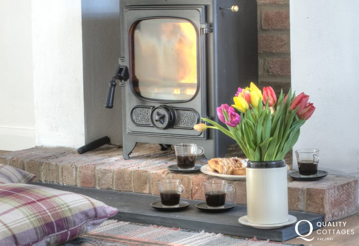Pembrokeshire holiday cottage - wood-burner