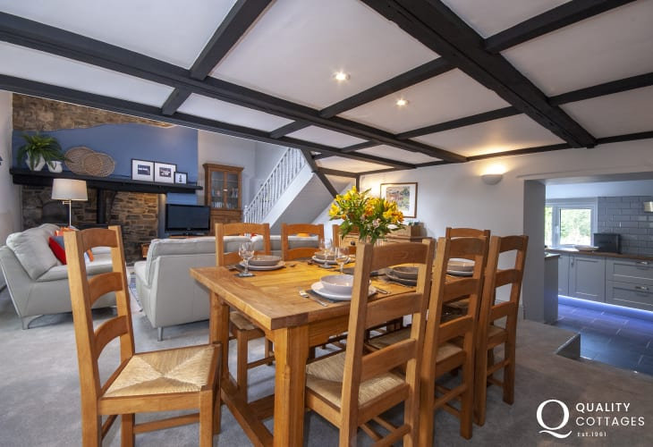 Rural retreat in the Aeron Valley - dining room