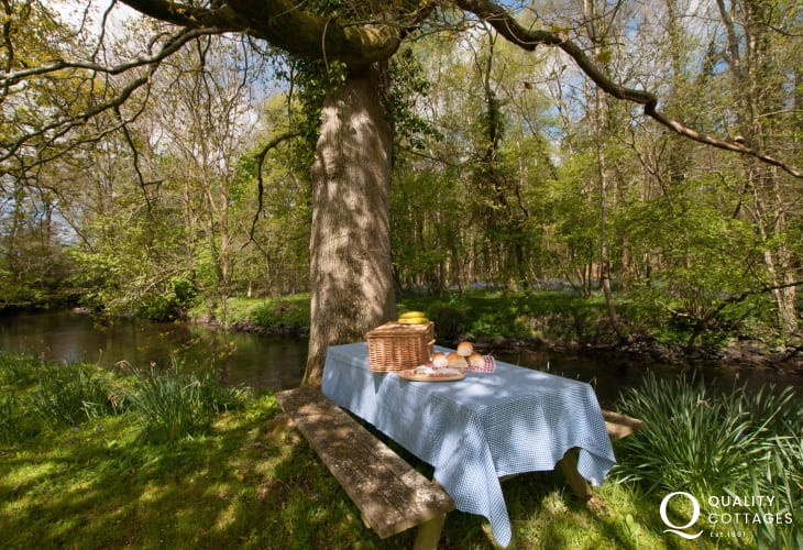 Ceredigion luxury holiday cottage - river