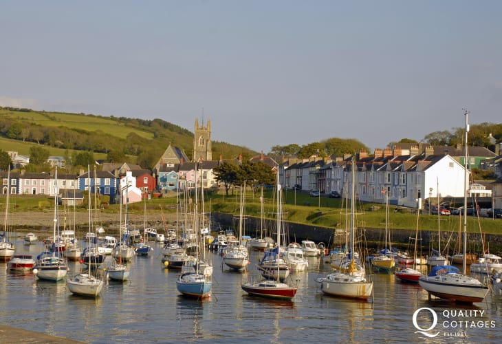 Aberaeron's picturesque harbour