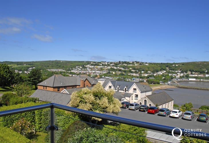 Views over Goodwick and Fishguard Harbour from the two balconies