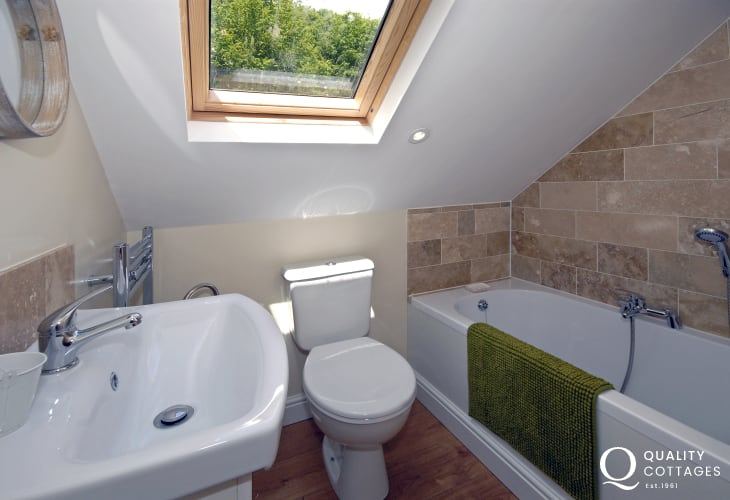 Double en-suite with shower over bath