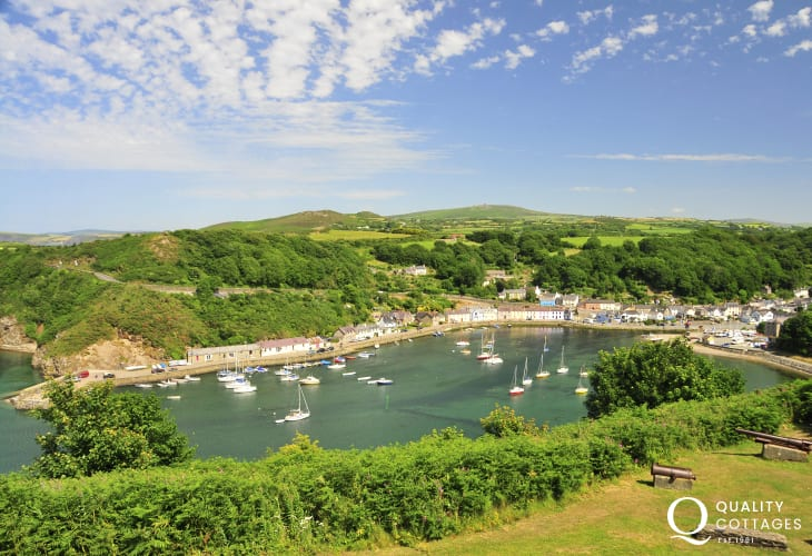 Marine Walk, Fishguard takes you down to picturesque Lower Town harbour