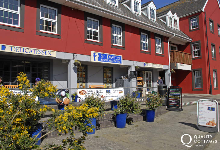 St Davids Food and Wine offer a wide choice of wine, local beers plus a deli section for Pembrokeshire produce