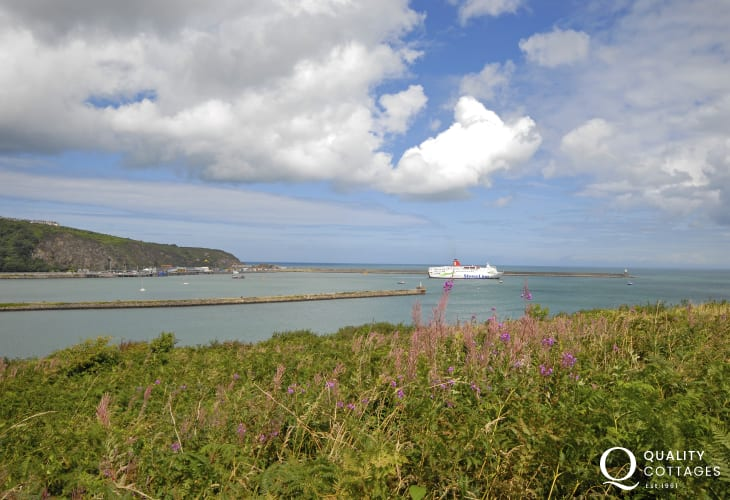 Enjoy the ever-changing views over Fishguard Harbour