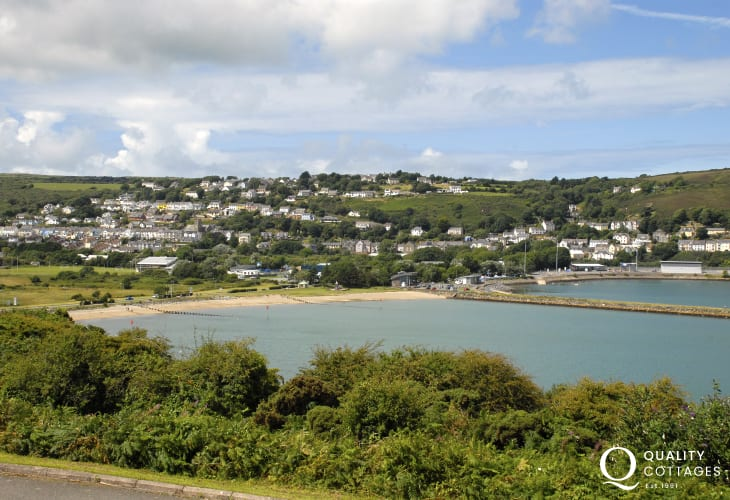 Parrog Sands and the harbour
