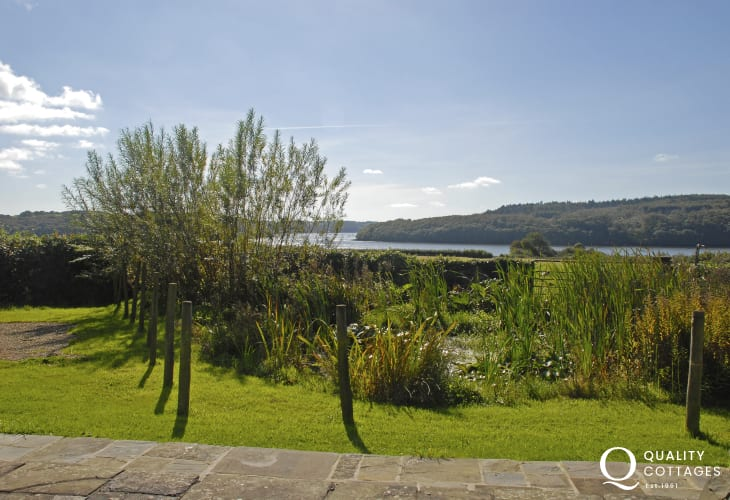 Cottage garden with views down to Beggars Reach and Daugleddau River