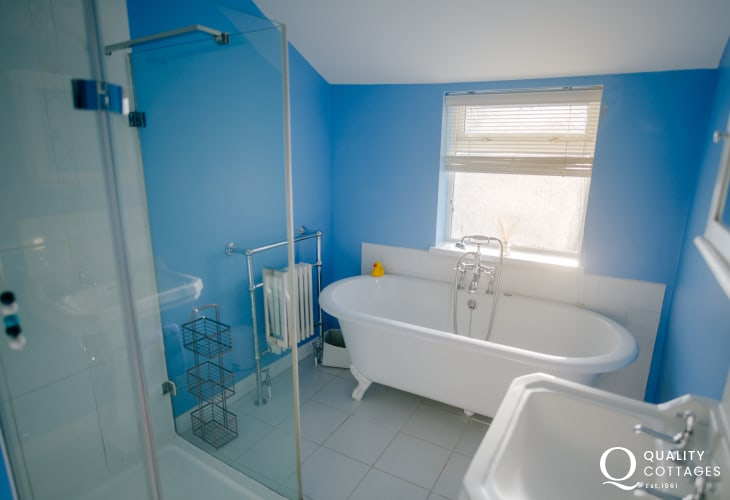 Gower Peninsula cottage holiday - bathroom