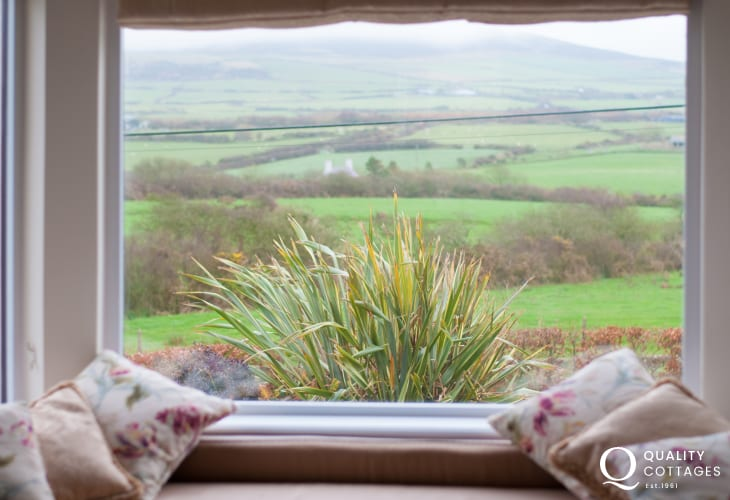 North wales coastal cottage - sitting room views