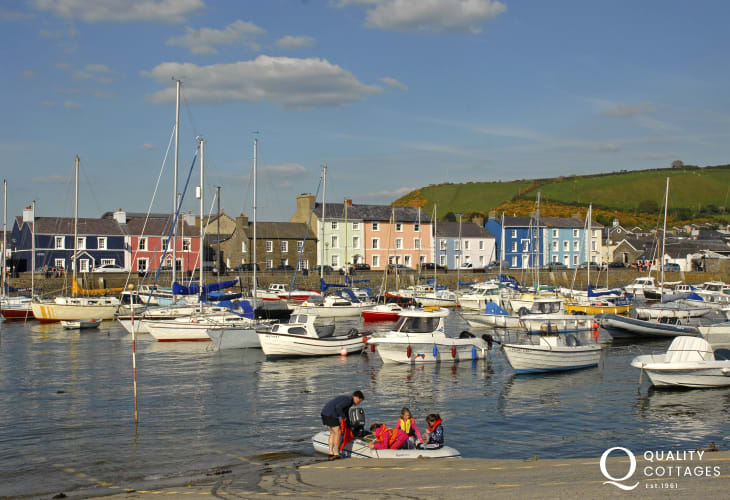 Aberaeron - one of the prettiest towns along the Welsh coast