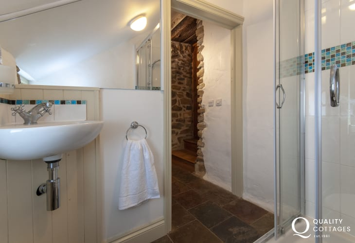 Solva holiday home - single en-suite shower