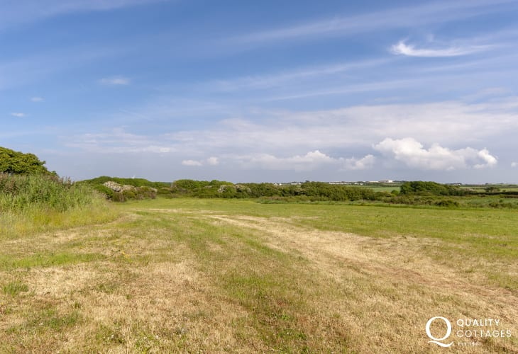 Views over the surrounding 11 acres of farmland (part SSSI)