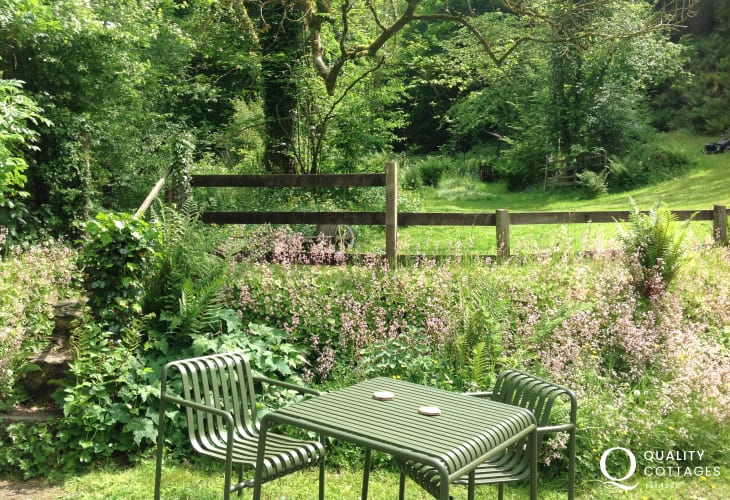 West Wales cottage holiday dog friendly - garden