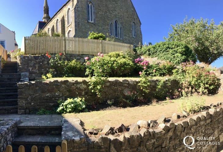 Walled garden terrace