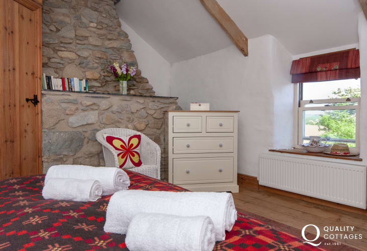 Ffynnoneddewi holiday farmhouse - master bedroom