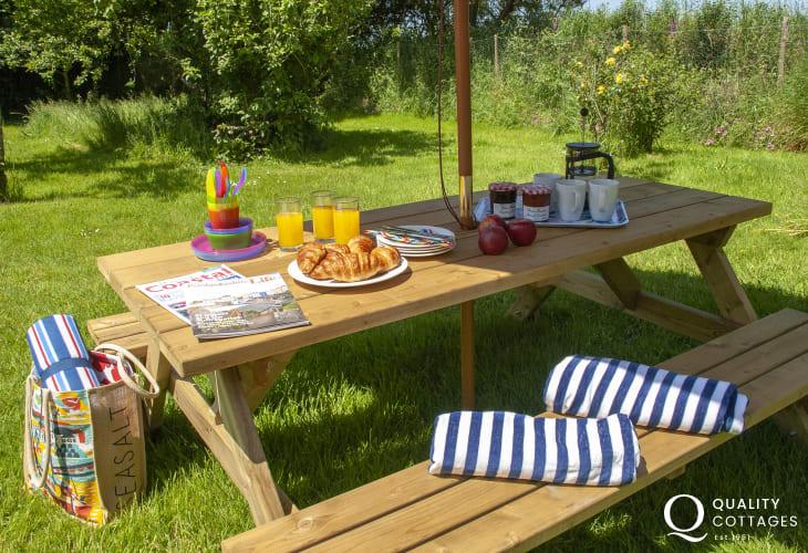 Ffynnoneddewi Farmhouse private garden