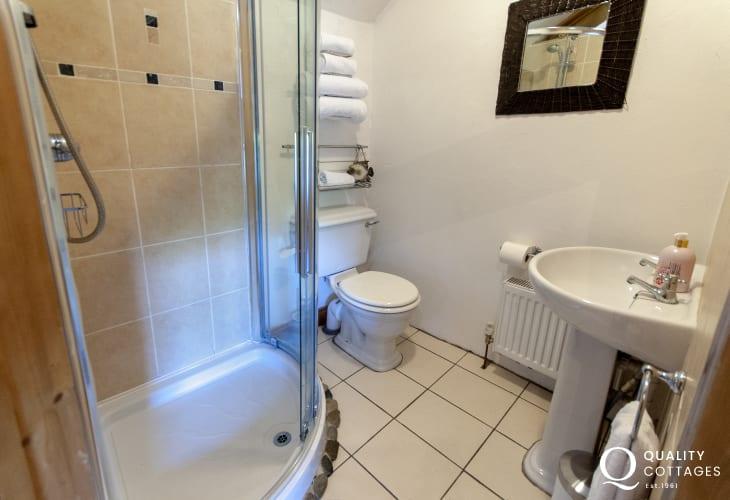 Solva holiday home - master en-suite shower