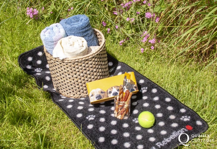 Fynnonddewi Farmhouse welcome pack for your pooch!