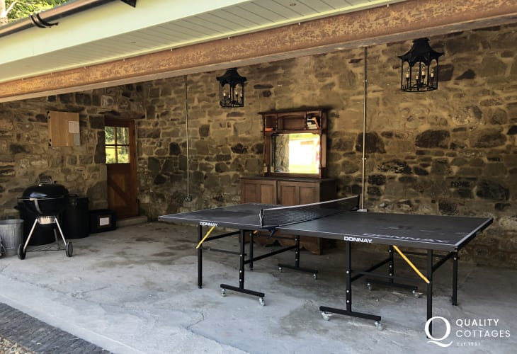 Restored Coach House for holidays in Wales - table tennis