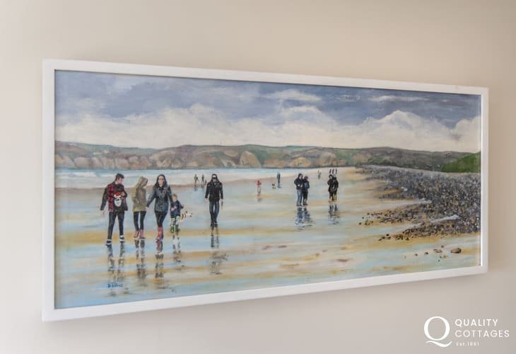Solva holiday home with lots of local art on display