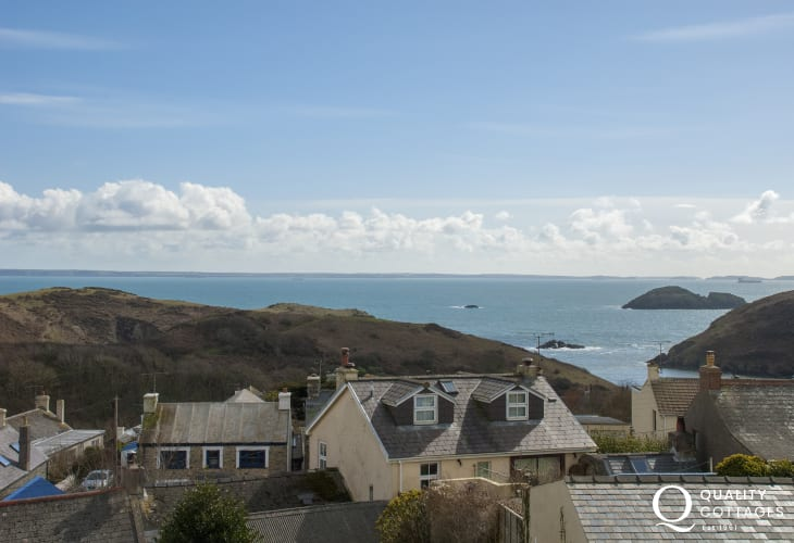 Coastal views to Green Scar Island, Solva