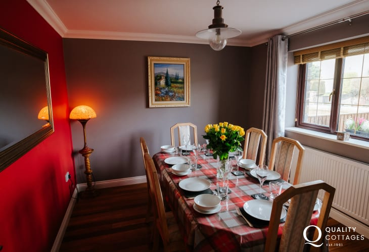 Henrhyd Falls close by holiday cottage-dining room