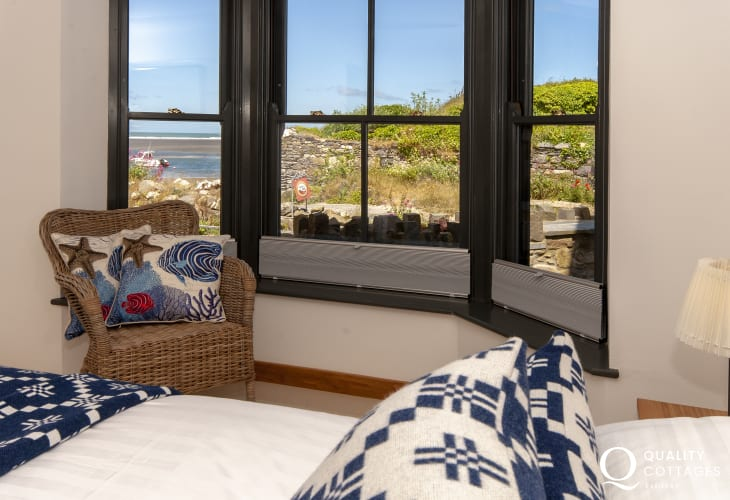 Views to the Parrog Beach from the ground floor bedroom