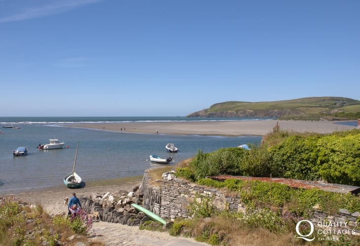 Enjoy the ever changing views over the Parrog to Newport Sands and Morfa Head