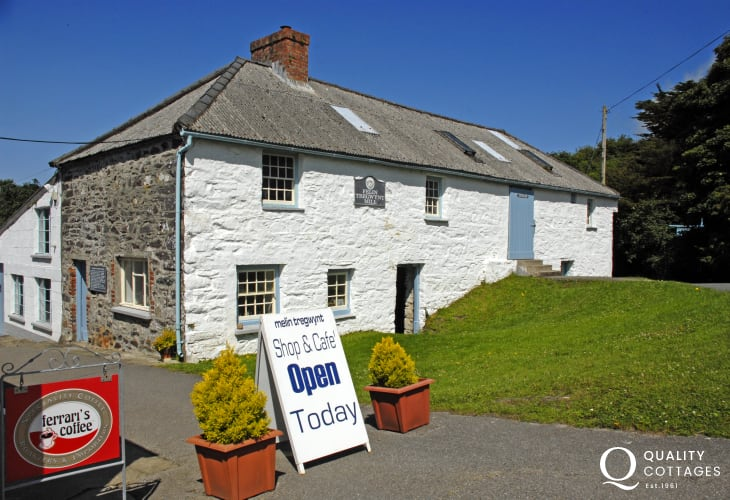 Visit  Melin Tregwynt - a working 18th century mill famous for beautiful throws, rugs and cushions