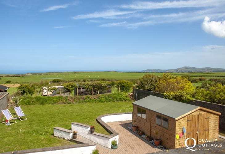 Views to Strumble Head from the master bedroom