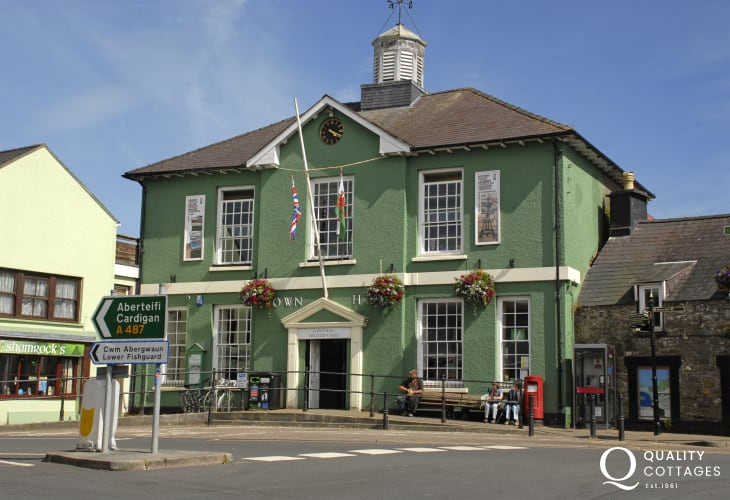 Fishguard's Town Hall is home to the 'Last invasion Tapestry' and the weekly Farmers Market