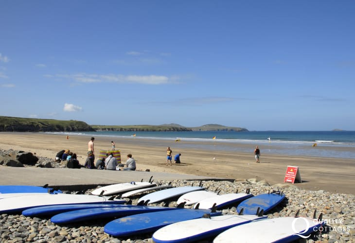 Whitesands (Blue Flag) - a spectacular sandy beach popular water sport enthusiasts