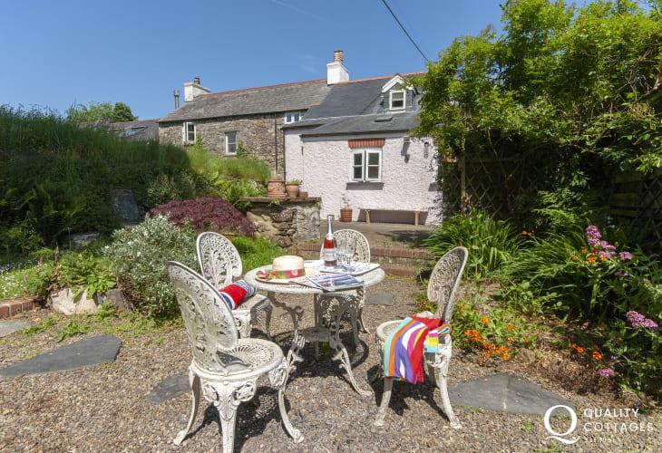 Spring Cottage, St Nicholas - rear walled gardens