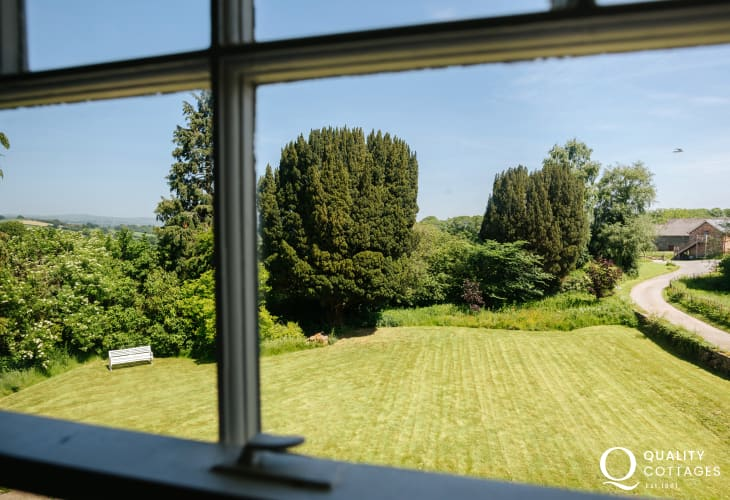 Garden views from master bedroom