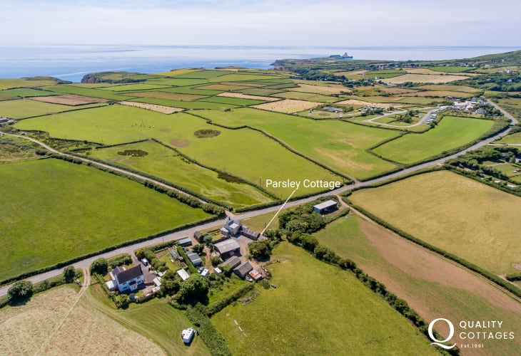 Cottage location near coastal path on the Gower