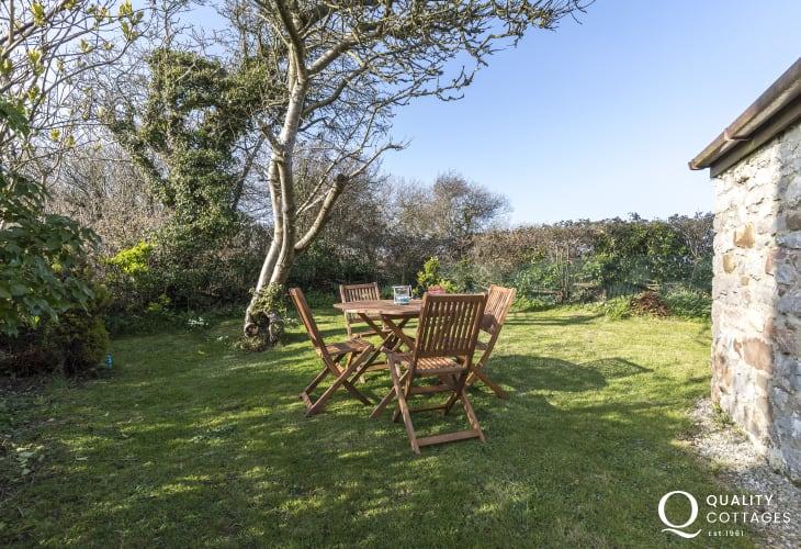 Private enclosed garden with views garden furniture