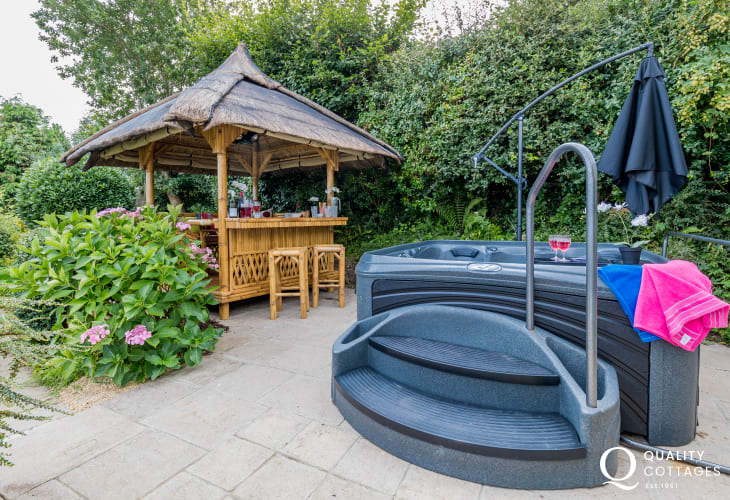 Garden hot tub and gazebo