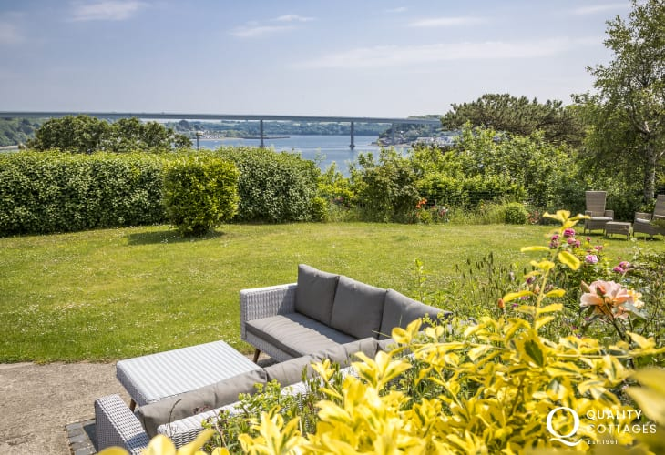 Sea views from garden patio furniture