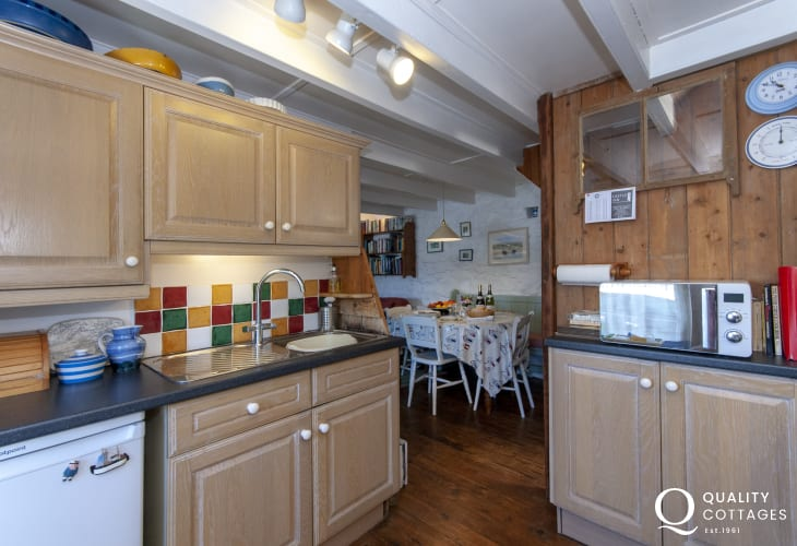 Self-catering cottage Newport - galley style kitchen