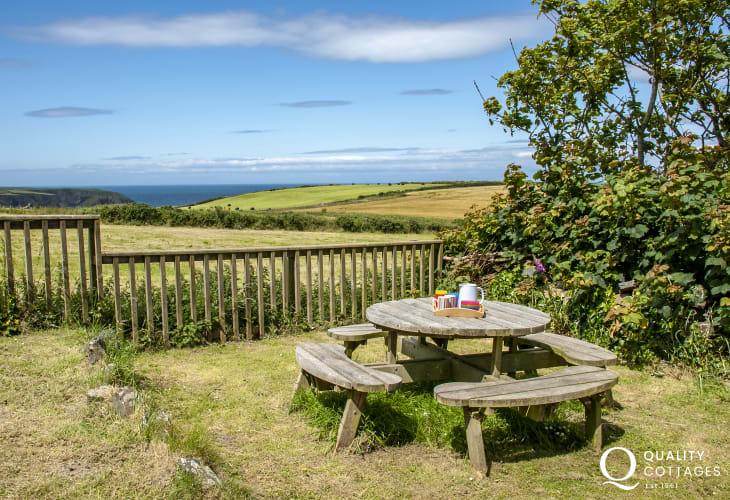 Enjoy lovely views to the sea and the rugged coast of North Pembrokeshire