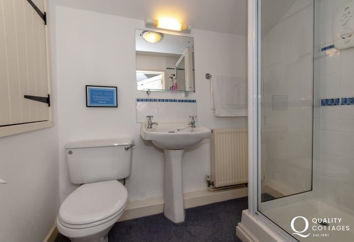 Pembrokeshire holiday cottage - twin en-suite shower
