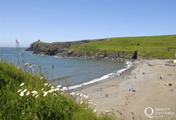 Abereiddy - a black sandy beach