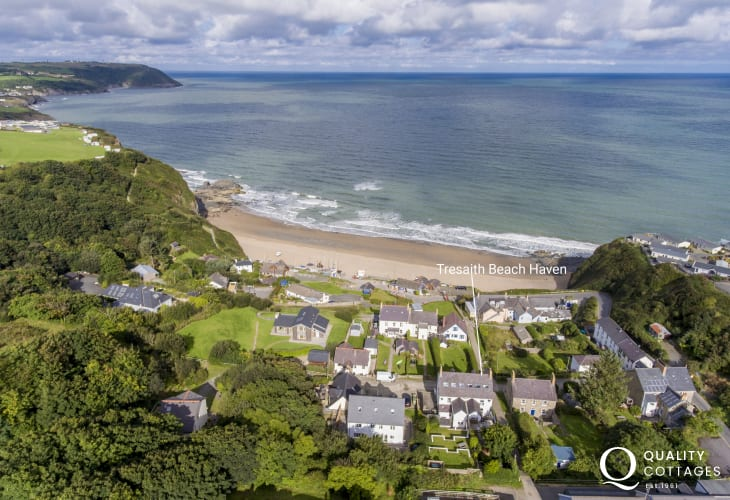 Location Tresaith holiday cottage