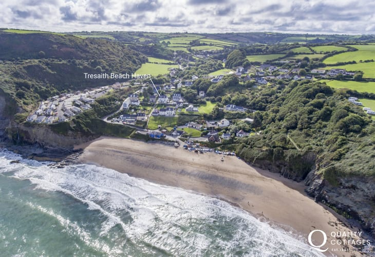Tresaith beach holiday cottage location