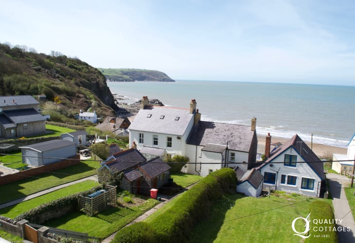 Front terrace view from Tresaith Beach Haven