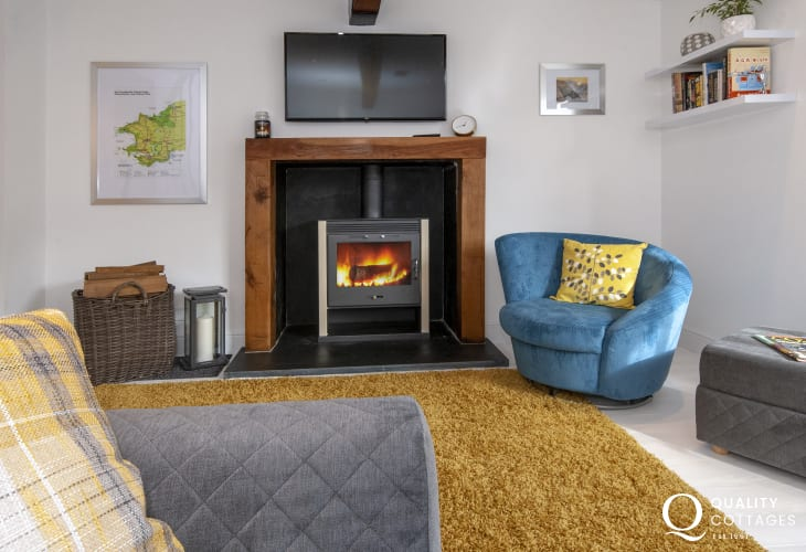 Solva restored holiday cottage with wood burner
