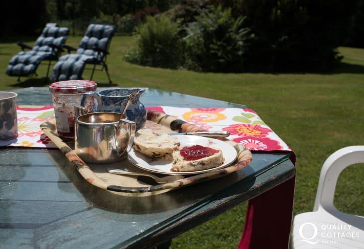 Snowdonia holiday cottage - garden