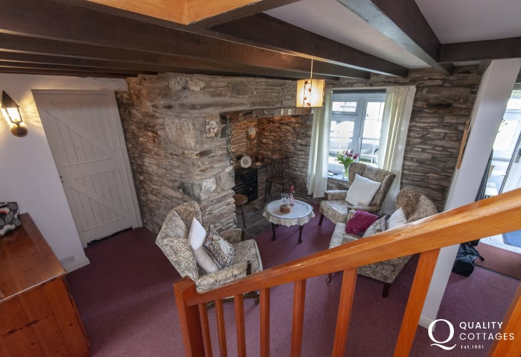 North Pembrokeshire coastal cottage - cosy snug area