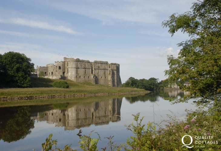 Magnificent Carew Castle overlooks the mill pond - lots of regular activities, events and re-enactments to enjoy.